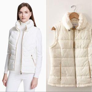 Calvin Klein | Synthetic Seamed Puffer Vest Cream